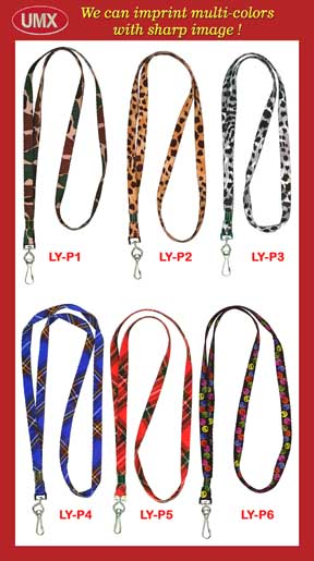 custom multi-color pattern lanyards