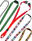 "5/8"" Sewn-On Pre-Printed Neck Straps, Bands Or Ring Lanyards With Adjustable Sliders."