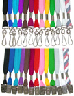 Flat cotton lanyards: economic blank lanyards with black, white, green, red and royal blue color flat tube shoe string straps available.