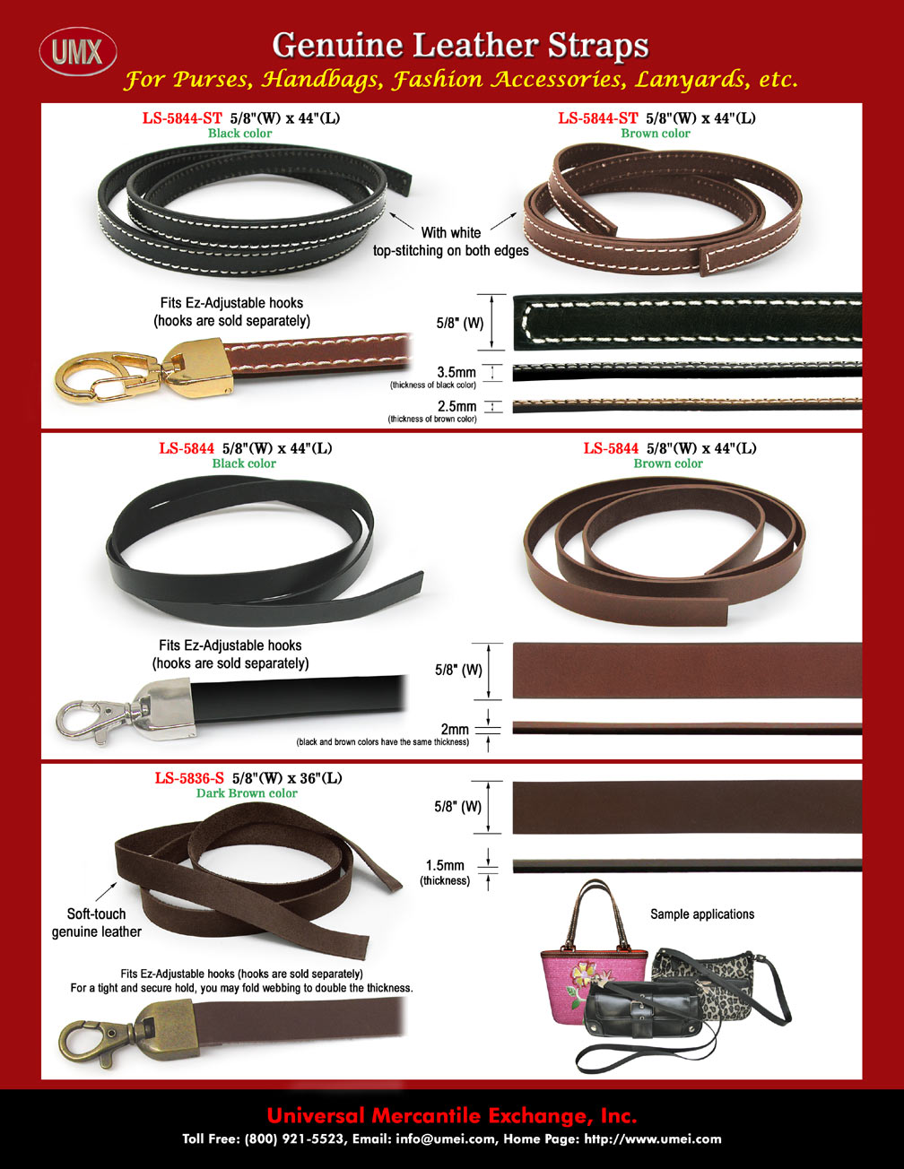 UMX Genuine Leather Lanyard Straps