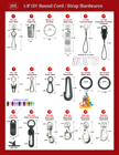 "Helpful Hardware Attachment Reference Guide - For 1/8"" Round Cord, String or Flat Strap Lanyards."