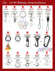 "Helpful Hardware Attachment Order Direction - For 5/8"" Heavy Duty Nylon, Cotton or Polyester Webbing Lanyards or Leashes"
